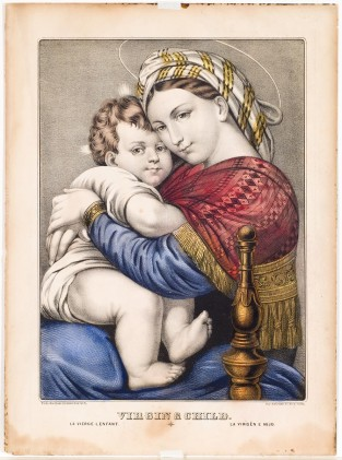 Virgin & Child, Currier & Ives