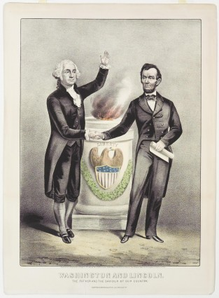 Washington And Lincoln, Currier & Ives