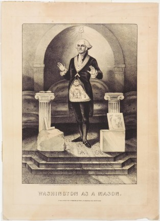 Washington As A Mason, Currier & Ives