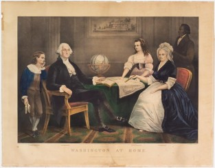 Washington At Home, Currier & Ives