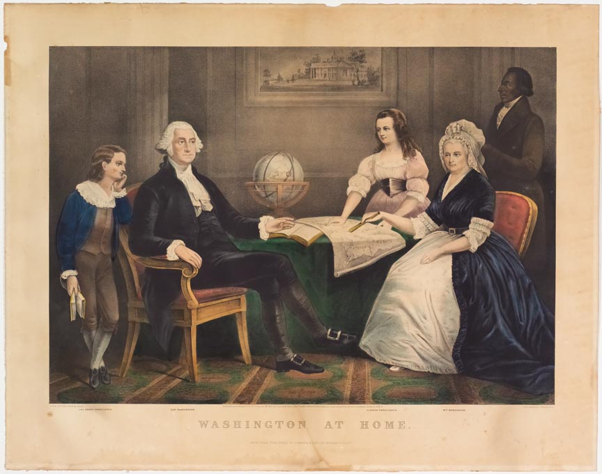 George Washington to left at table