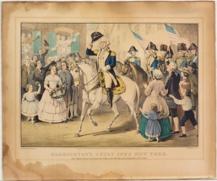 Washington's Entry Into New York. On The Evacuation Of The City By The British, Nov. 25th 1783., Currier & Ives