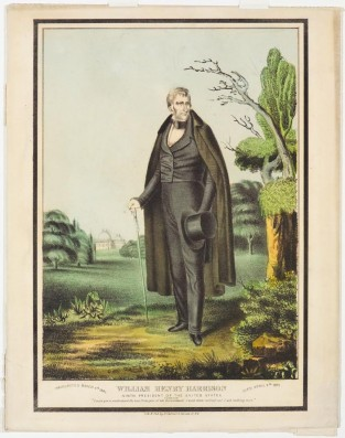 William Henry Harrison, Ninth President Of The United States., Nathaniel Currier