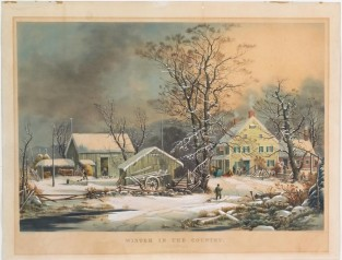 Winter In The Country -A Cold Morning, Currier & Ives, After George Henry Durrie