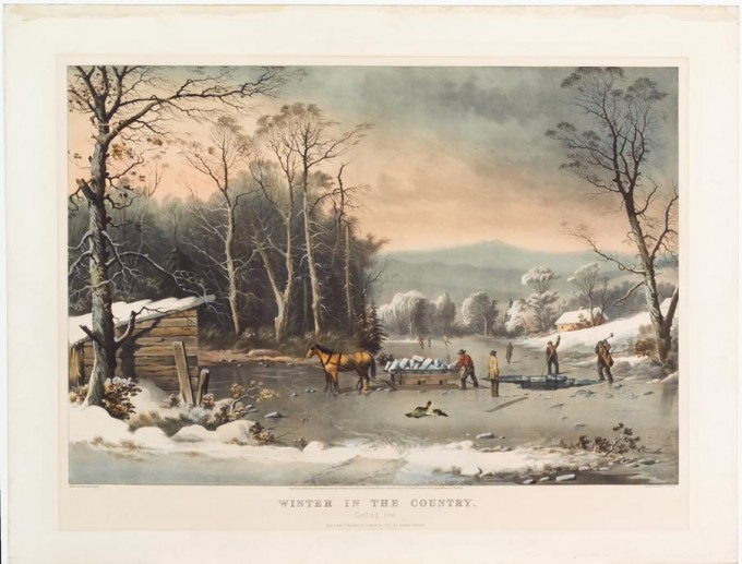 Winter In The Country Getting Ice Currier Amp Ives After