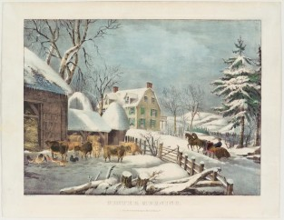 Winter Morning, Currier & Ives