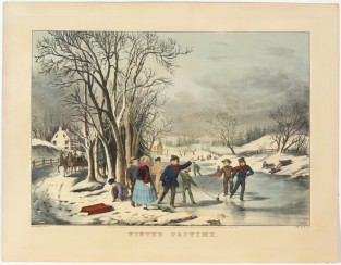 Winter Pastime, Nathaniel Currier