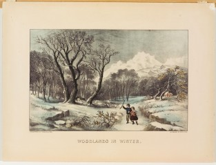 Woodlands In Winter, Currier & Ives