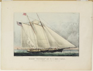 "Yacht ""METEOR"" Of N.Y. 293 Tons. Owned By G. L. Lorrillard Esq. Of The N.Y. Yacht Club, Currier & Ives"