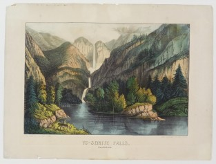 Yo-semite Falls. California, Currier & Ives