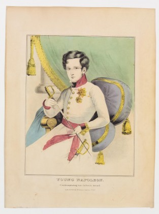 Young Napoleon. Contemplating His Father's Sword, Nathaniel Currier