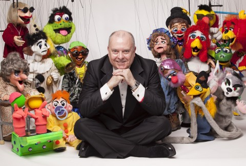 Wayne Martin with puppets