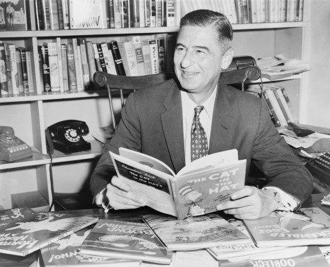 Ted Geisel at his desk