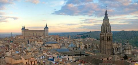 Skyline of Toledo Spain