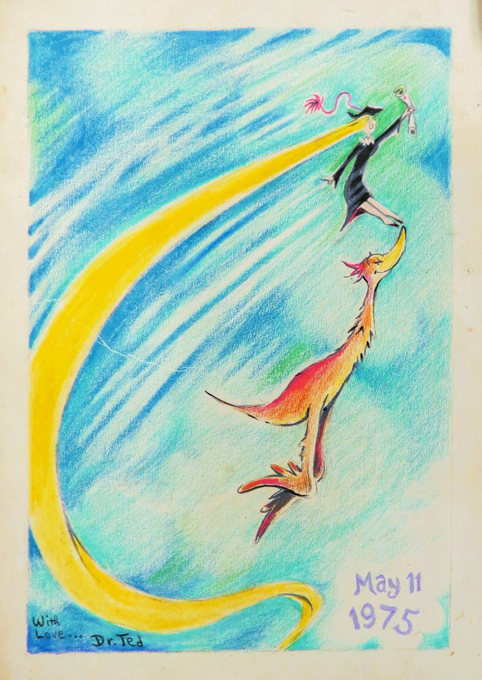 One of many drawings by Dr. Seuss donated by Lark Grey Dimond-Cates, step-daughter of the late Theodor S. Geisel.