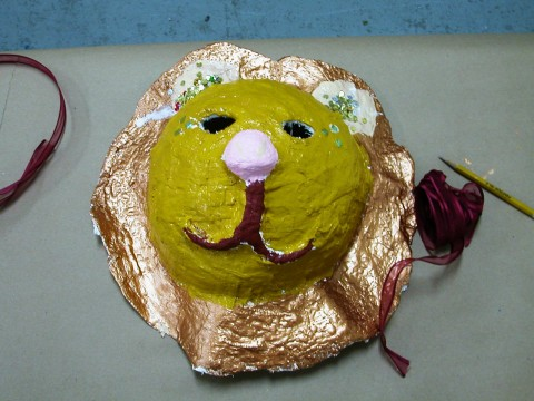 lion mask created by student