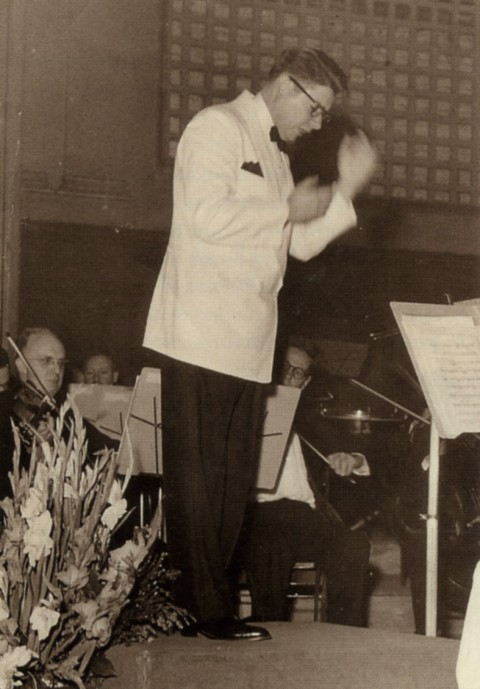 Alexander Leslie, Founder and Conductor of the Springfield Symphony Orchestra from 1944–1955.