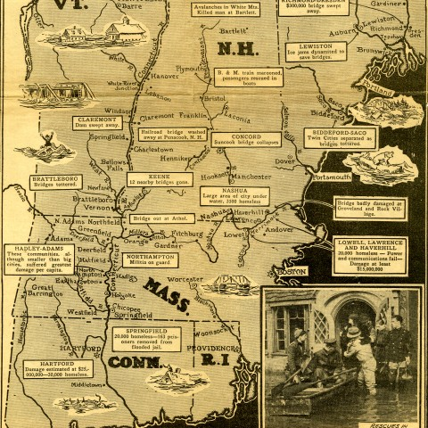 Map of the 1936 Flood.