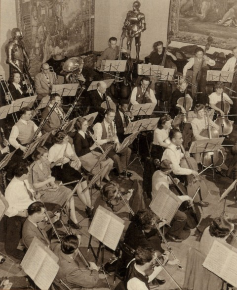 The Springfield Symphony Orchestra performing in the late 1940's.