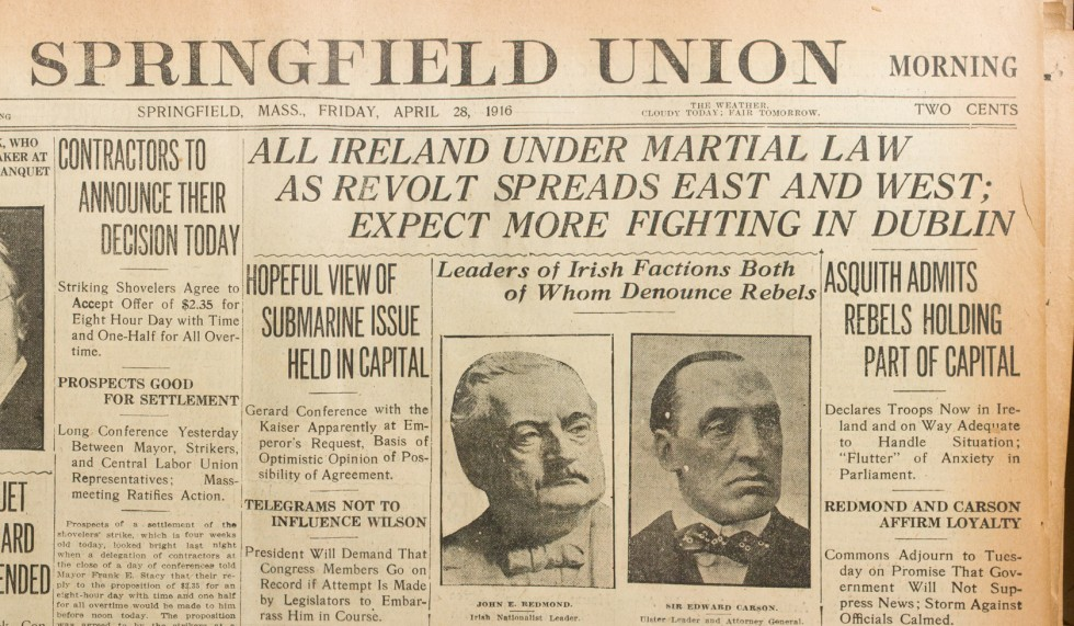 Exhibit On Irish Rebellion Now On View At Springfield Museums