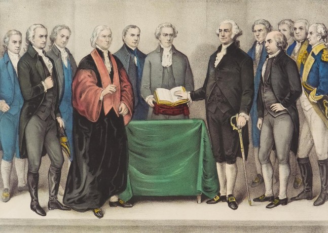 2004.D03.090 Inauguration of Washington, 1876, Hand-colored Lithograph, Published by Nathaniel Currier and James Merritt Ives, Americans, 1813-1888 and 1824-1895