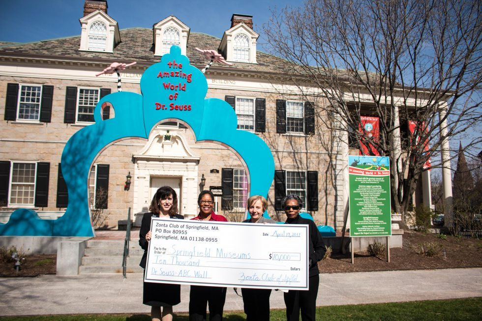 Zonta Club Of Springfield Presents Springfield Museums With $10,000 Gift In Support Of The Amazing World Of Dr. Seuss Museum