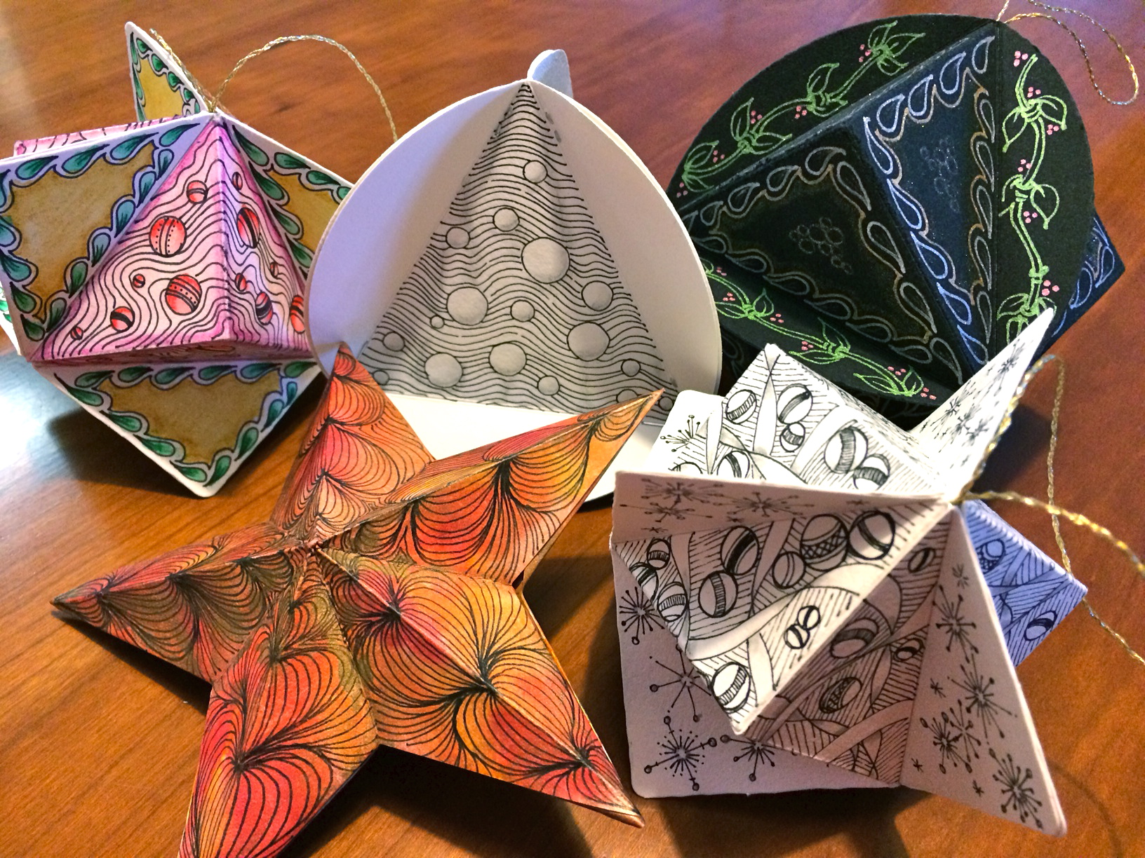 Zentangle: 3-D Ornaments