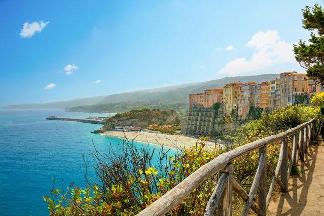 Beach in Calabria, Italy