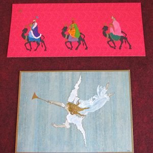Two Original Christmas Cards W/ Envelopes, Designed By Jacqueline Kennedy, Dated 1963