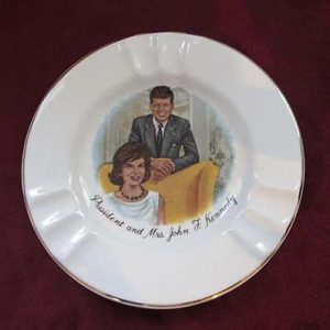 Ceramic Ash Tray, JFK & JBK, 1960s