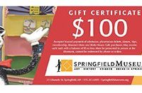 Springfield Museums Gift Certificates