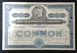 Indian Stock Certificate One