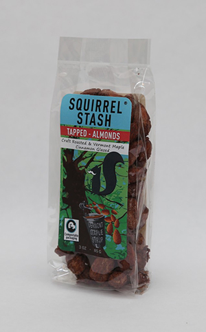 Almonds Tapped Front – Squirrel Stash Nuts Smaller