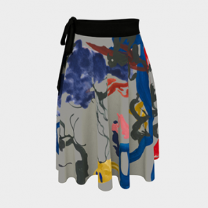 Donnabelle Designs Art-Inspired Wrap Skirt