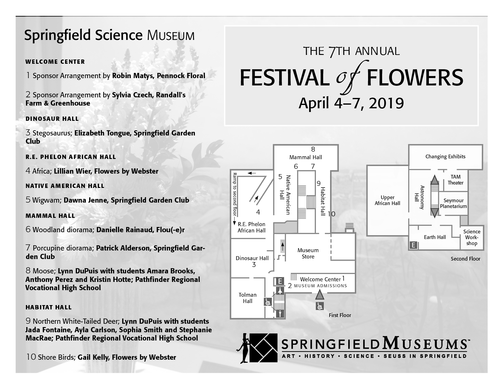 Festival of Flowers Map Page 1