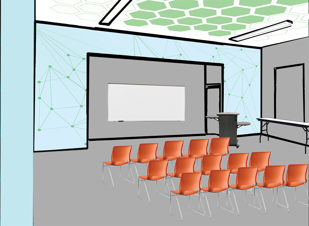 Artist rendering of the Science Workshop