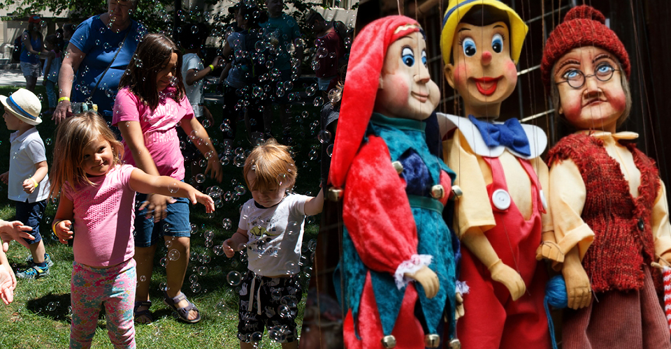 Bubble party and puppets