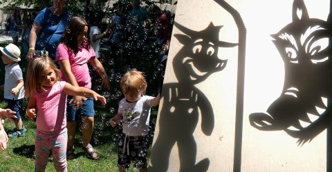Bubble party and shadow puppets