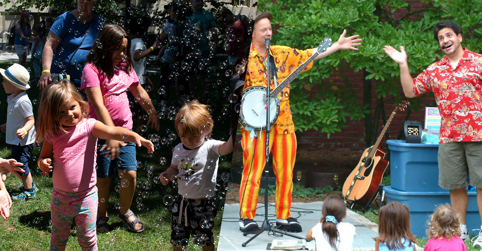 Bubble party and the Toe Jam Puppet Band