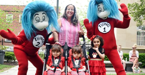 Thing 1 and Thing 2 with family