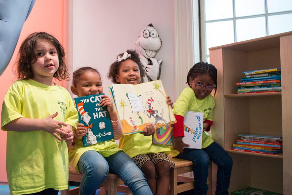 Kids Reading Dr. Seuss Books
