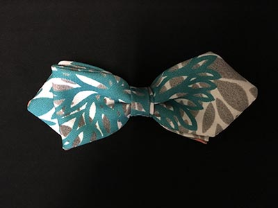 Multi Color Patterned Bow Tie With Pointed Ends
