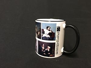 White Ceramic Mug With Multiple Fine Art Portraits In Full Color