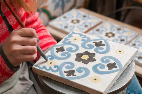 Ceramic tile decorating