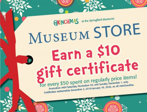Museum Store Holiday Promotion