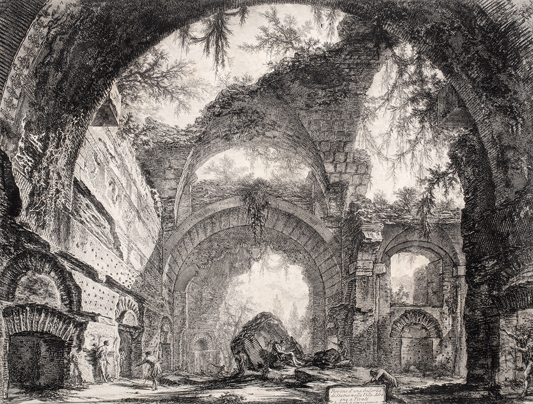 Ruins of a Gallery of Statues at Hadrian's Villa by Giovanni Battista Piranesi