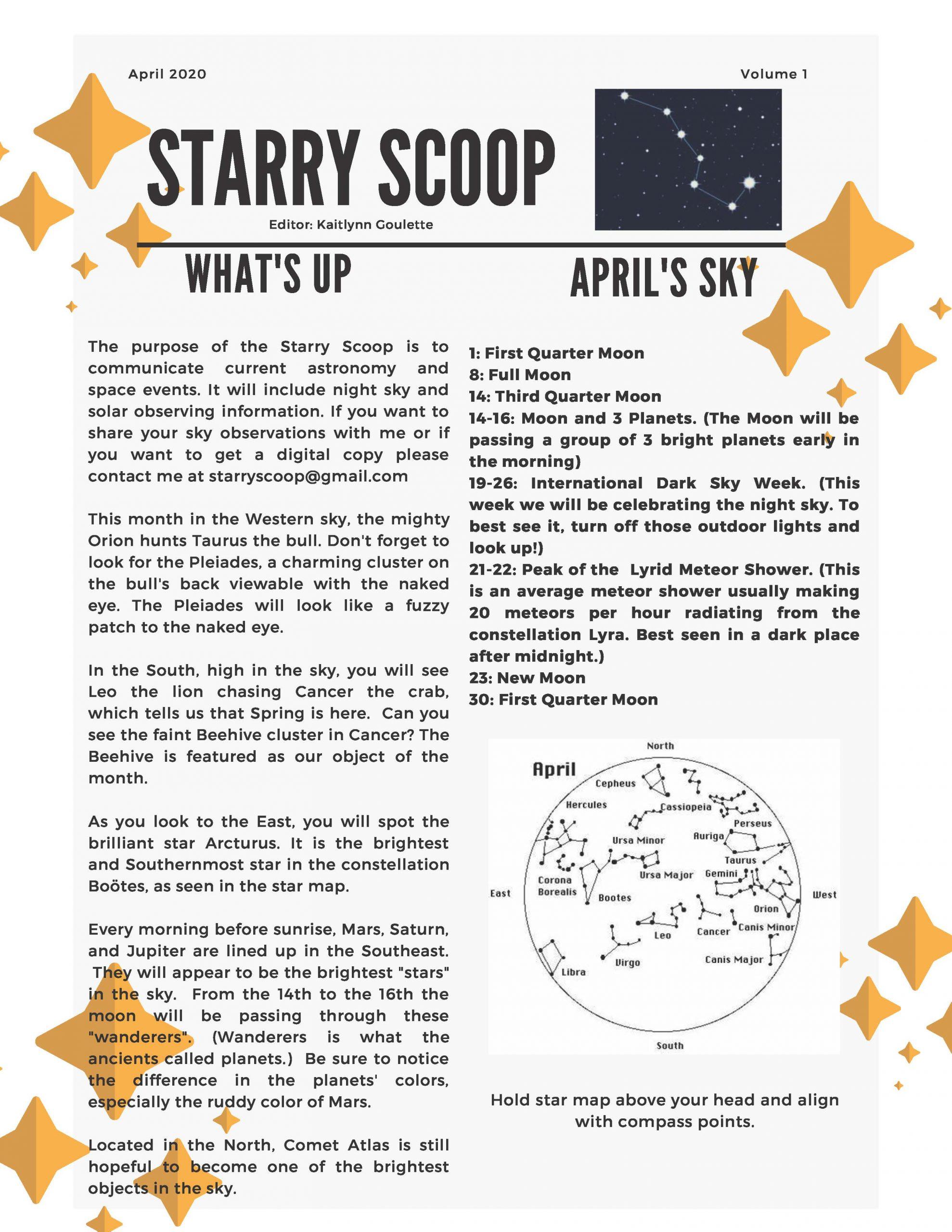 Starry Scoop Newsletter April 2020