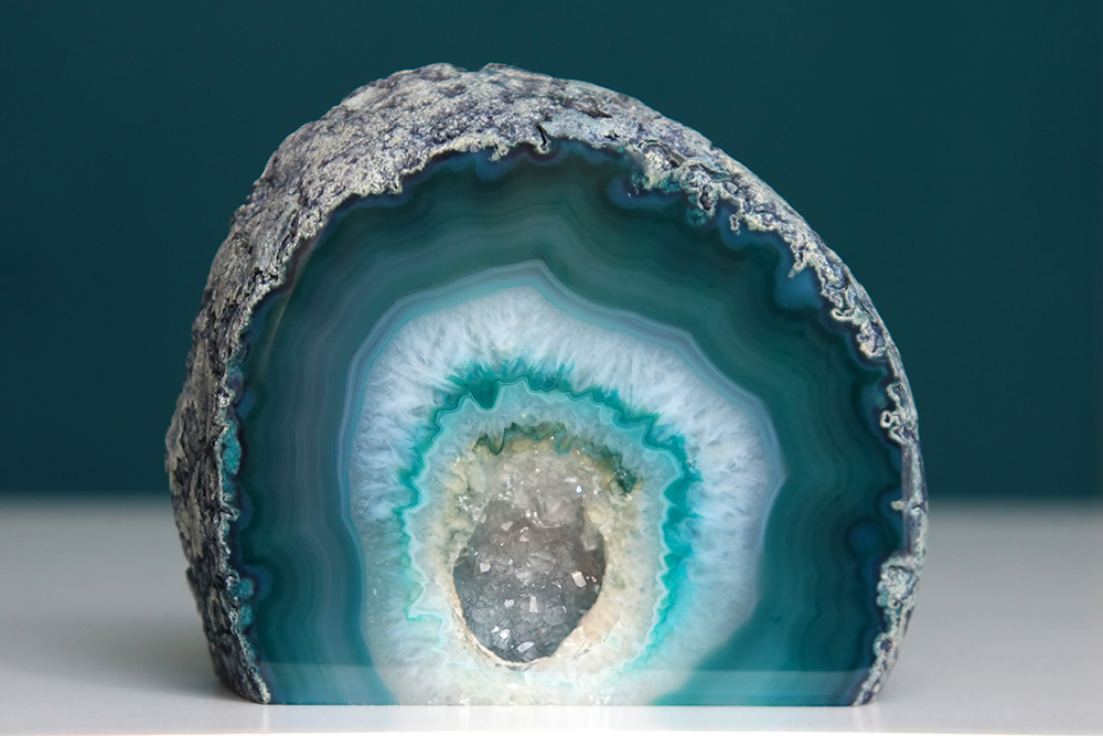 Blue And Green Geode