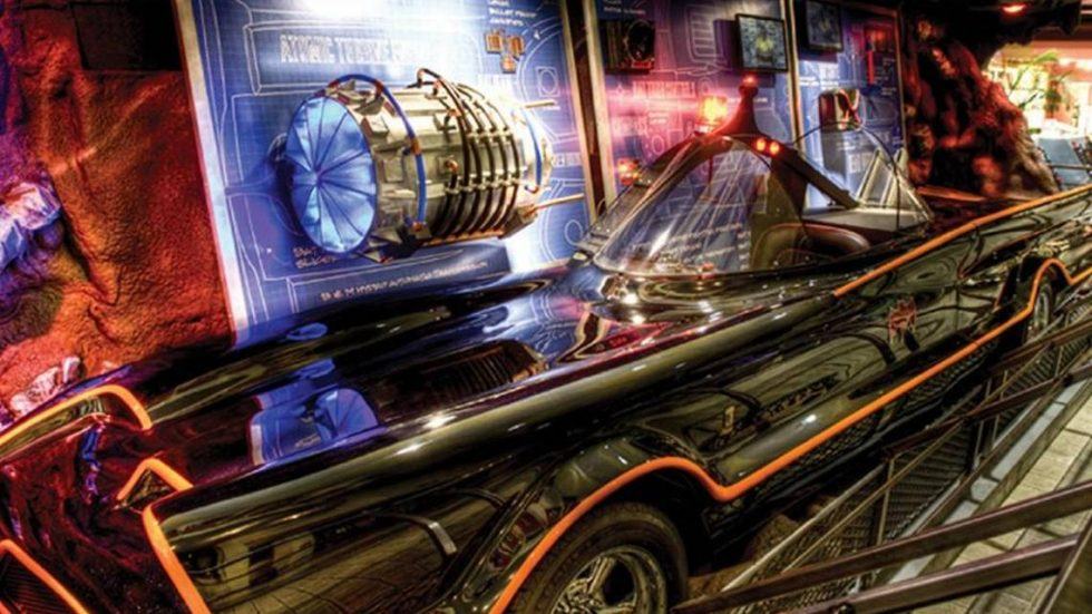 Batmobile in the Hall of Heroes Exhibit