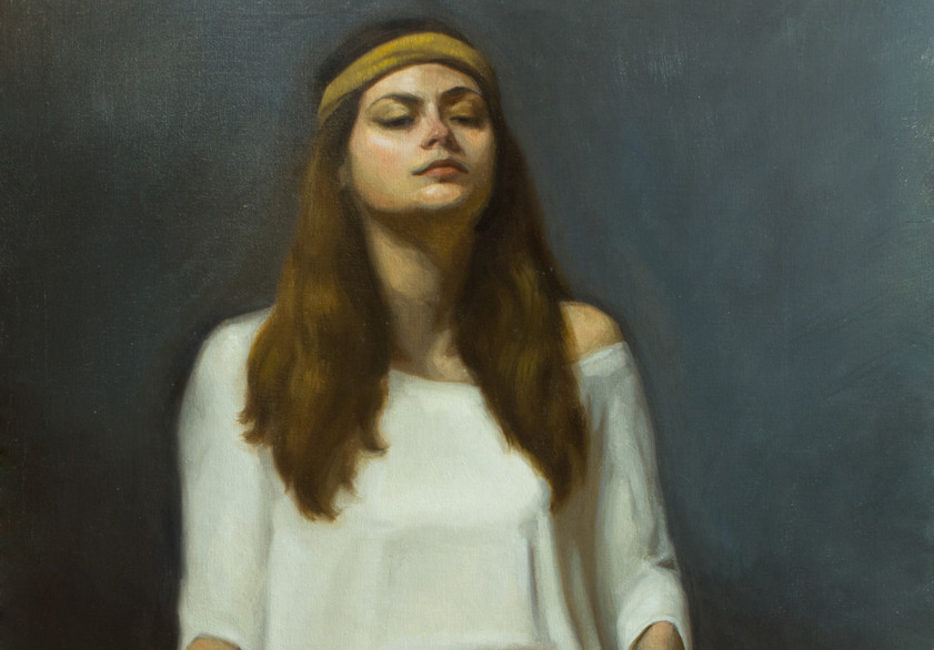 Oil Painting of a young woman